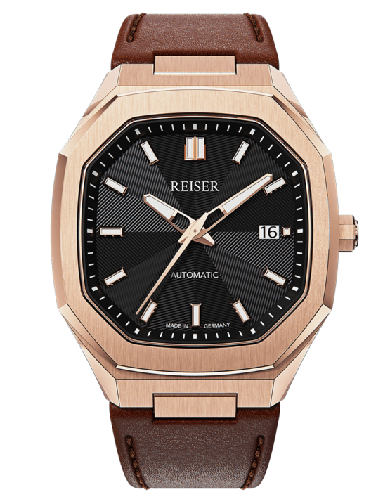 ALPEN Date - Rose Gold (Leather)